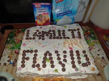 Prăjitura pregătită de FLAVIU