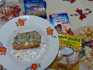Prăjitura pregătită de George