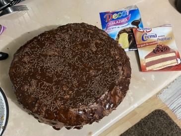 Prăjitura pregătită de Florin